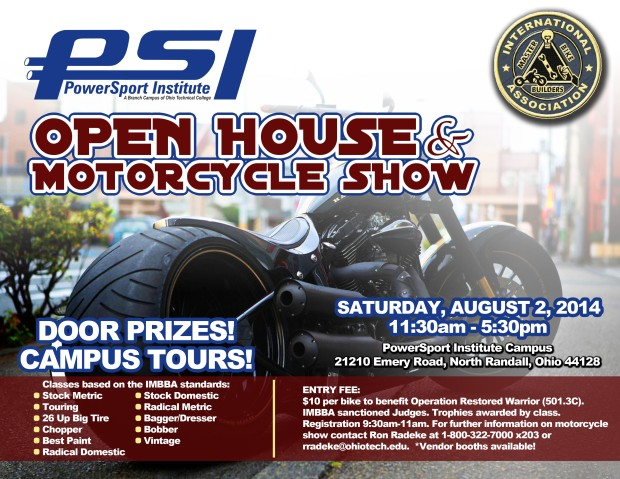 2014 PSI Open House Motorcycle Show Flyer